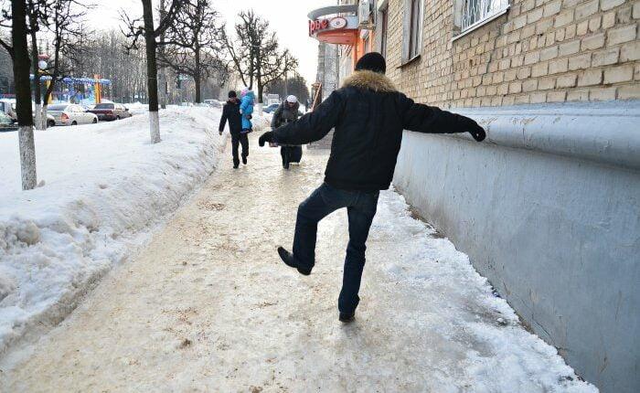 Осторожно, гололёд в Челябинске!
