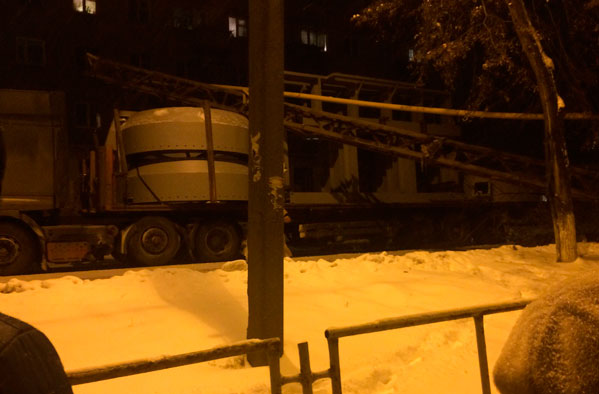 Фура влетела в газопровод Кыштыме, дома без газа