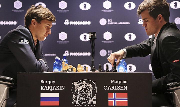 Россиянин Сергей Карякин проиграл Магнусу Карлсену на чемпионате мира по шахматам