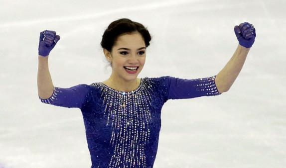 Золотую медаль по фигурному катанию получила Евгения Медведева