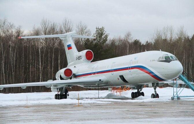 Крушение самолета Ту-154 представили в виде компьютерной модели