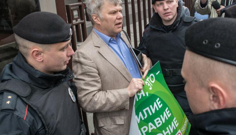Во время «штурма» Госдумы задержан Сергей Митрохин