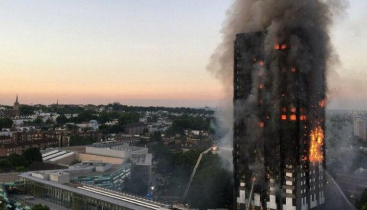 В пламени жилой небоскрёб: 130 квартир, 6 погибших. Из окон выбрасывают детей