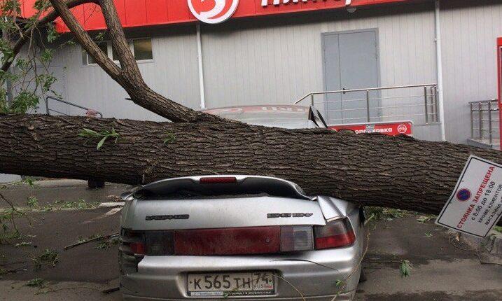 На Челябинск налетел «московский» ураган. ФОТО, ВИДЕО