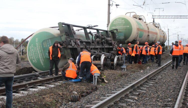 В Челябинске с рельсов сошла цистерна с пропаном