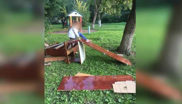 Спасибо властям за счастливое детство. Челябинские ребятишки построили себе городок из мусора. ВИДЕО