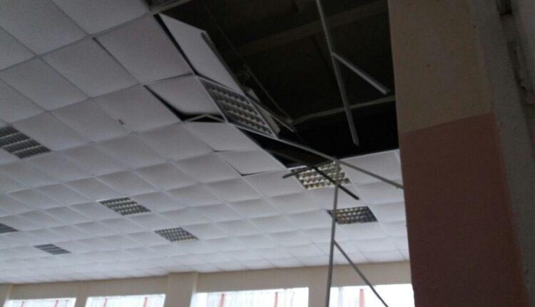 В уральской школе на школьников обрушился потолок