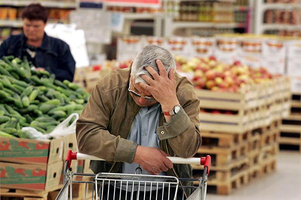 За год в России продукты выросли в цене в четыре раза больше, чем в странах Евросоюза