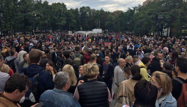 В мэрию Москвы подали заявку на проведение очередного митинга оппозиции 10 августа