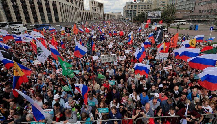 22,5 тысяч москвичей вышли на митинг против недопуска к выборам оппозиционных кандидатов