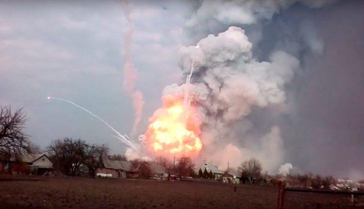 В Минобороны отчитались о ликвидации пожара на складе боеприпасов