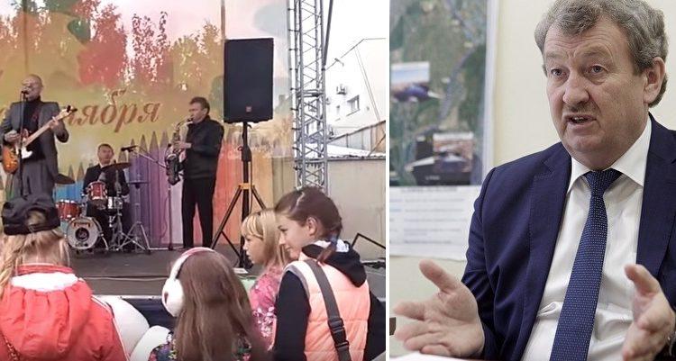 Депутат Госдумы Анатолий Литовченко заставил детей слушать кабацкий шансон. В честь Дня знаний. ВИДЕО