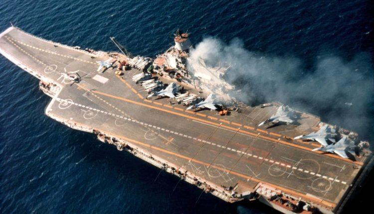 На единственном российском авианесущем крейсере «Адмирал Кузнецов» произошел пожар. Есть пострадавшие
