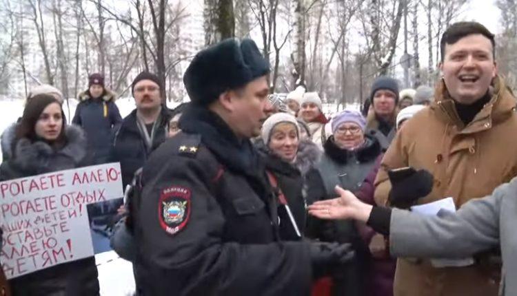 Московских активистов, протестующих против вырубки сотен деревьев, задержали на встрече с чиновниками