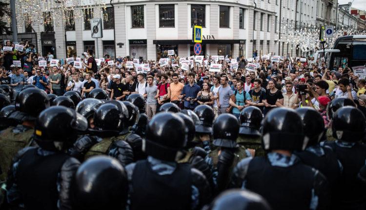 155 несогласованных митингов за год, 3 тысячи задержанных. Московская полиция раскрыла статистику по политическим акциям