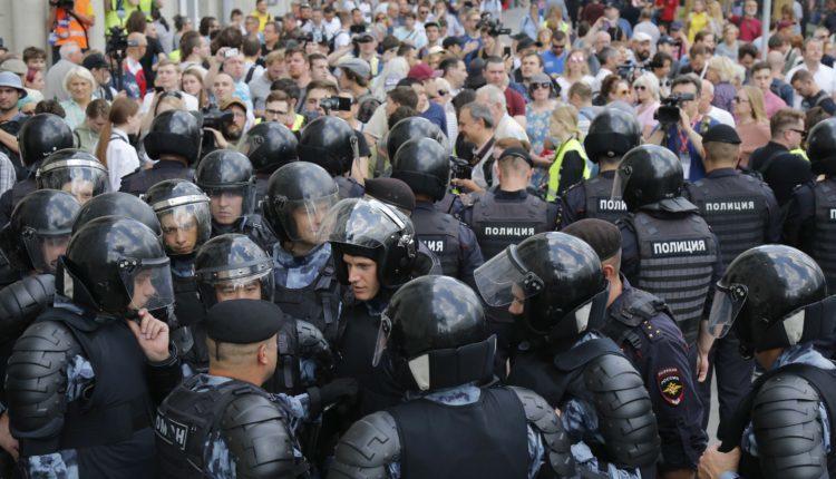 Некоторых сотрудников Росгвардии наказали за превышение полномочий во время московских протестов