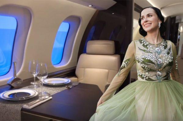 Бизнес-джет, на котором летала телеведущая Наиля Аскер-заде, решили продать